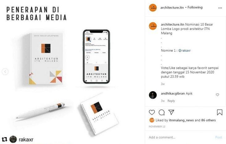 Manfaatkan Instagram, Arsitektur Jaring Logo Branding Prodi Lewat Lomba